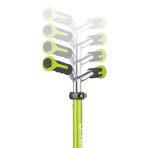 Тротинетка със светещи колела - зелена