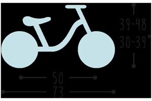 Размери на балансиращо колело без педали