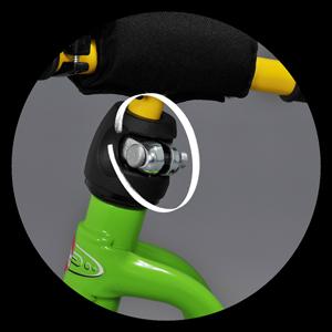 Регулиране на кормилото и на седалката на колело за баланс