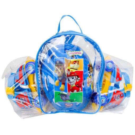 Детски комплект ролкови кънки и каска в удобна раница за носене