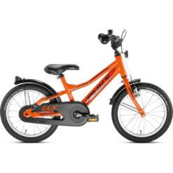 Оранжев алуминиев велосипед за деца