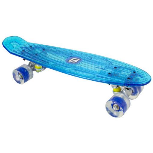 Скейтборд за момче със сини LED светлини