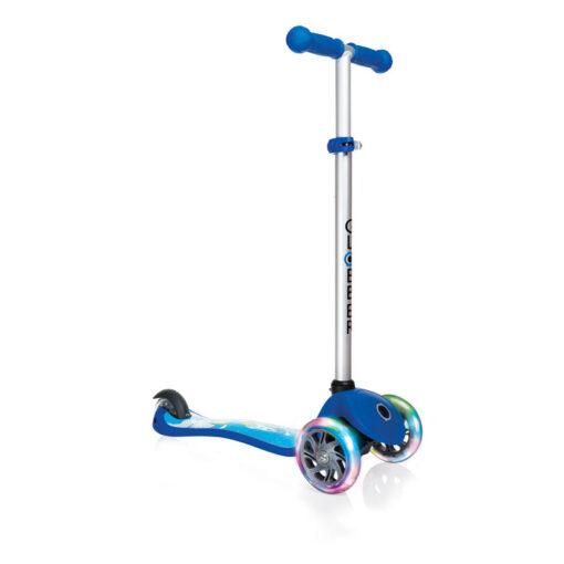 Тротинетка със светещи колела - синя