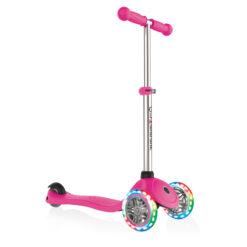 Скутер Globber със светещи колела - розов