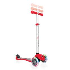 Тротинетка със светещи колела – червена