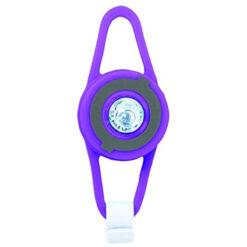 LED фенерче за тротинетка, колело или каска - лилаво
