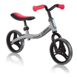 Колело за баланс за деца, колело без педали за деца на възраст над 2 години, сиво-червен цвят, GoBike, Globber,