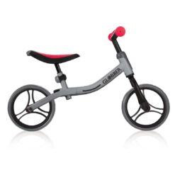 Колело за баланс за деца, колело без педали за деца на възраст над 2 години, сиво-червен цвят, GoBike, Globber, снимка отстрани