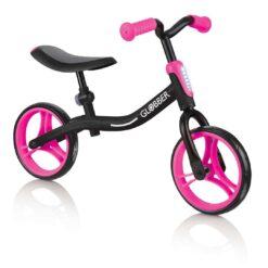 Евтино и здраво колело за баланс на френската марка Globber в розово черен цвят, подходящ за момиче
