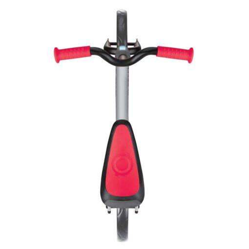 Колело за баланс за деца, колело без педали за деца на възраст над 2 години, сиво-червен цвят, GoBike, Globber, поглед отгоре