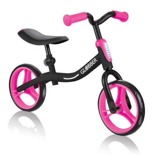 Уникално колело на Глобър за баланс в черно-розов цвят, с възможности за регулиране на седалката и кормилото