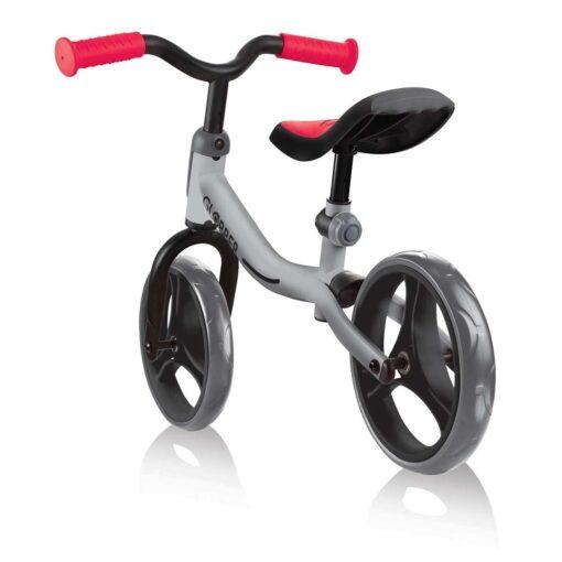 Колело за баланс за деца, колело без педали за деца на възраст над 2 години, сиво-червен цвят, GoBike, Globber, снимка отзад