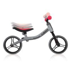 Колело за баланс за деца, колело без педали за деца на възраст над 2 години, сиво-червен цвят, GoBike, Globber, възможности за регулиране на седалка и кормило