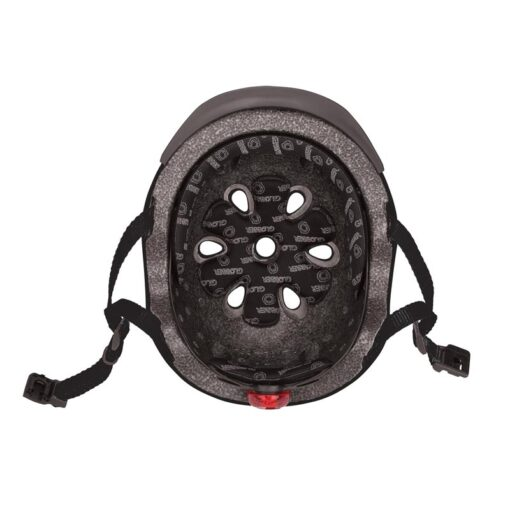 Светеща предпазна каска - Globber - черна на цвят