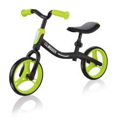 Евтино и леко детско колело без педали за деца в черно-зелен цвят