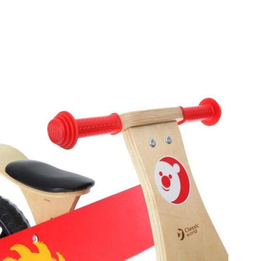 Кормило на дървено колело за баланс