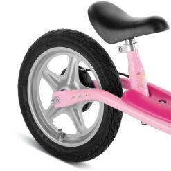 Колело за баланс с надуваеми гуми - розово