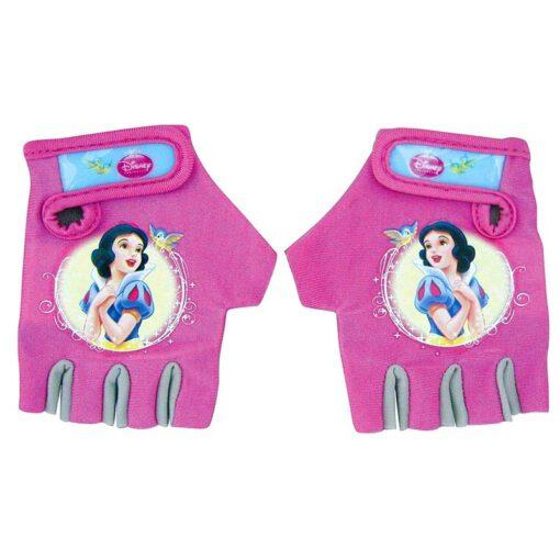 Ръкавици за колело - розови с принцеси
