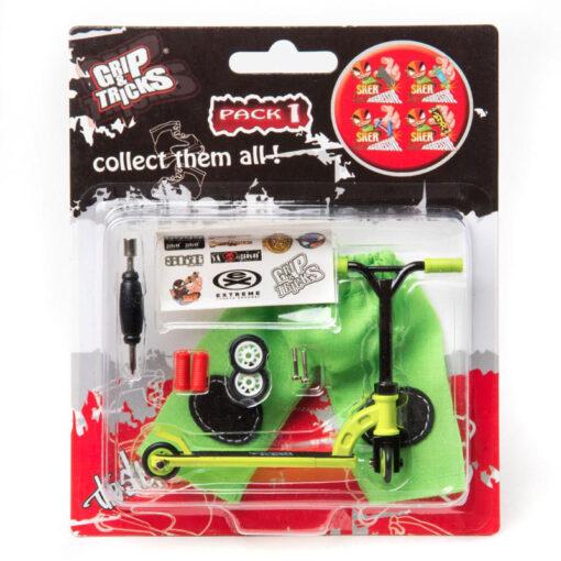 Фингърскутер - зелена тротинетка за игра с пръсти