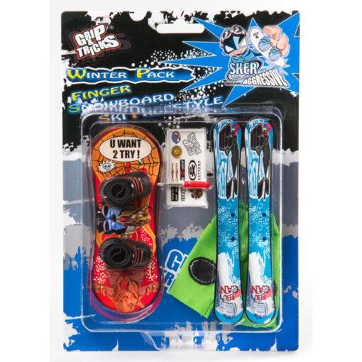 Играчки за пръсти - ски и сноуборд