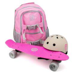 Детски пениборд и каска в удобна раница