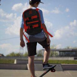 Комплект скейтборд, раница и каска