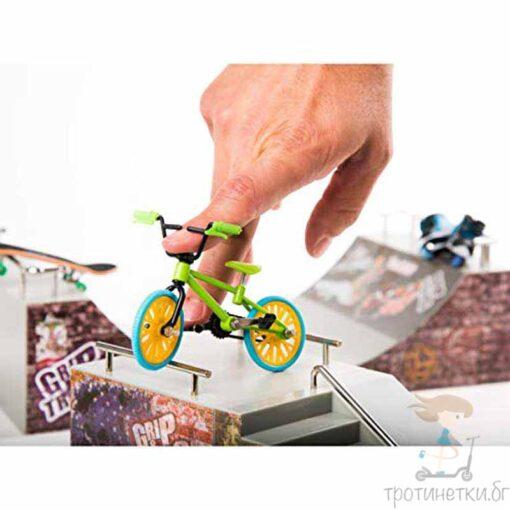 Играчки за пръсти мини колело BMX - зелено