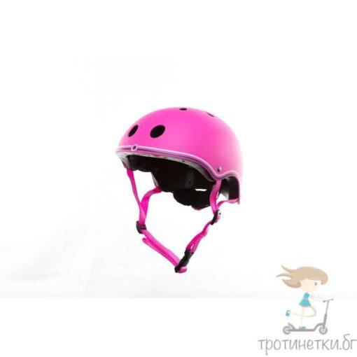 Розова детска каска -Тротнетки.БГ