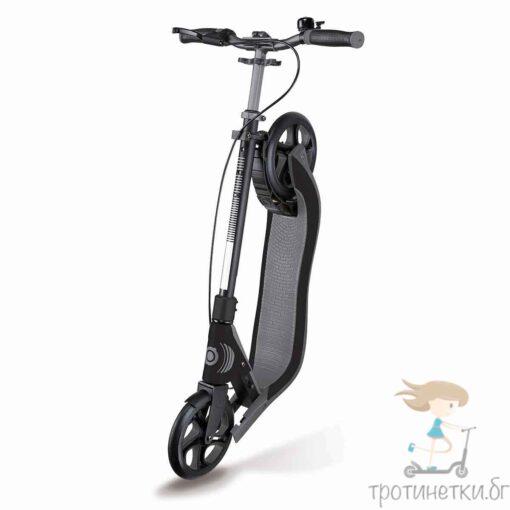 Тротинетка с 2 колела Globber за тийнейджъри и възрастни - сгъваема, от серията ONE NL 205 DELUXE в сив цвят