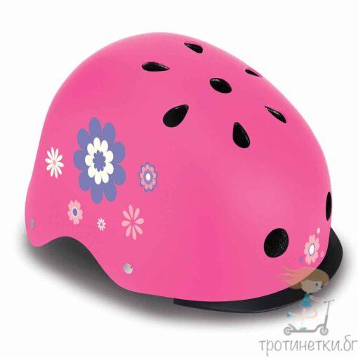Защитна светеща каска за тротинетка и колело Globber